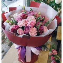 Rose Carnation  bouquet BM-009