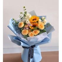 Bouquet Rose sunflower BS02-071