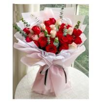 33 stalk 19stalk  Red pink Rose Bouquet BR33-095