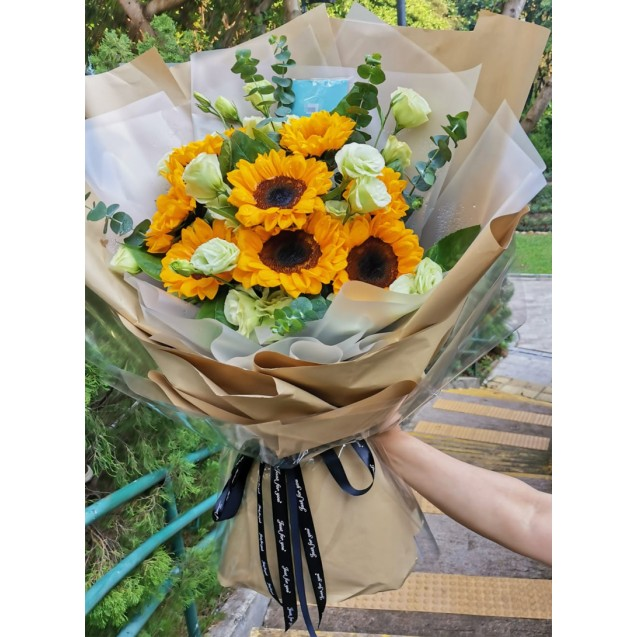 8 sunflower bouquet BS8-094