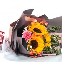 3  stem sunflower bouquet  MS3-092