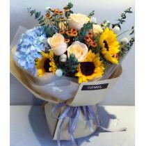 Sunflower Rose Bouquet BM-085